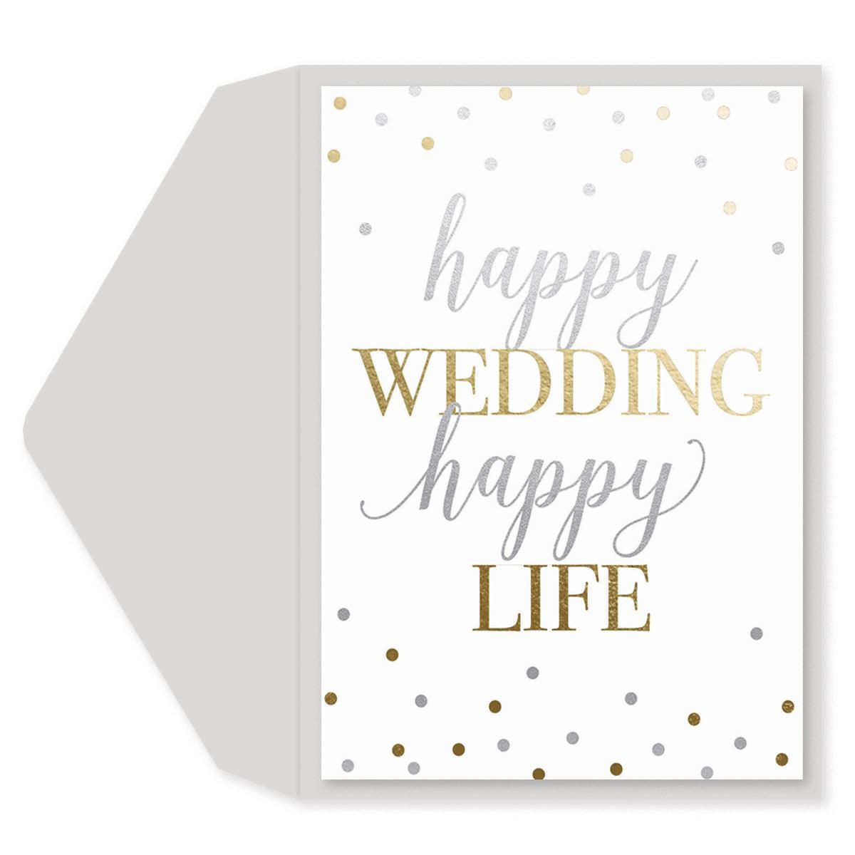 Happy Life Wedding Card