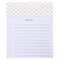 Gold Dots Jotter Notepad