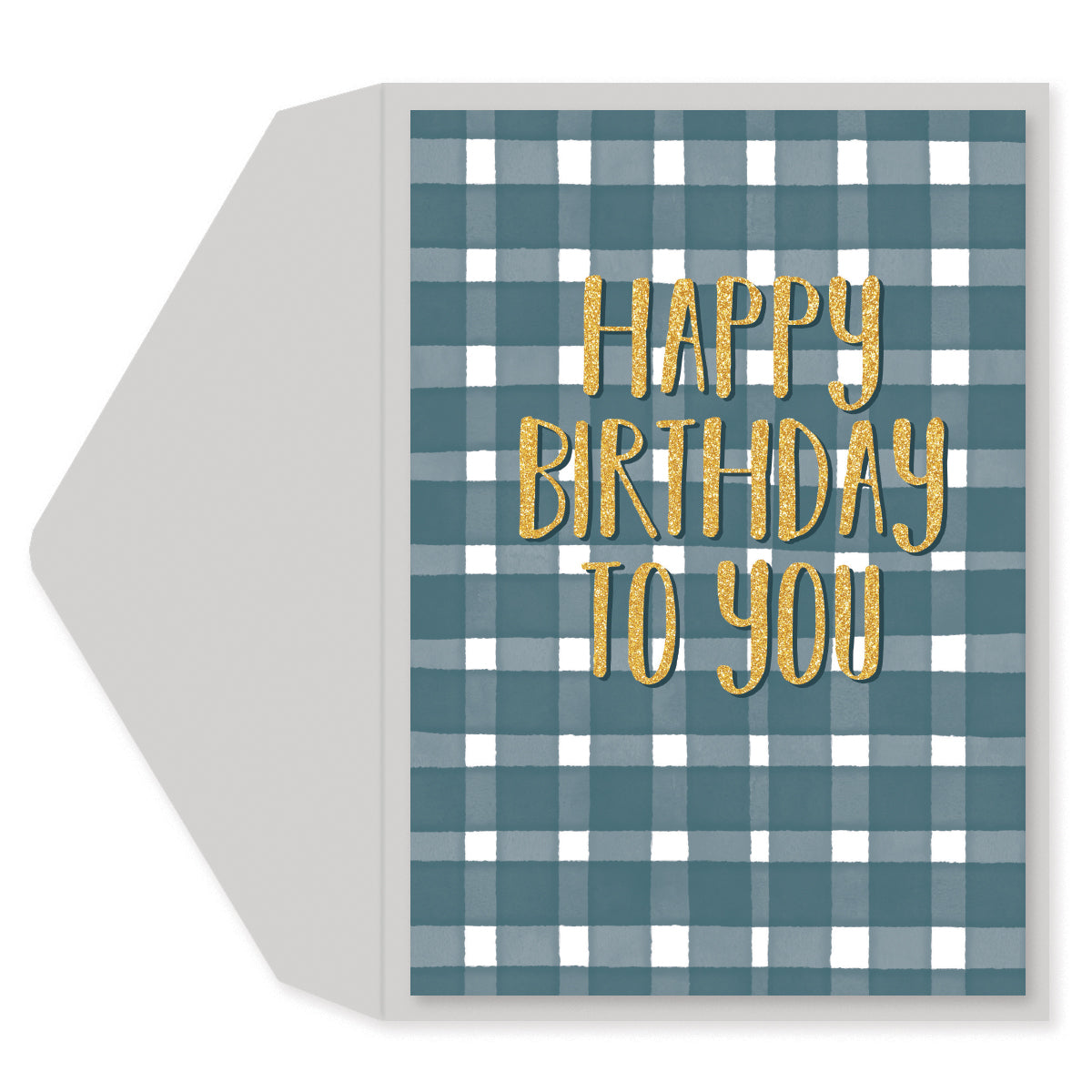 Plaid Birthday Greeting Card