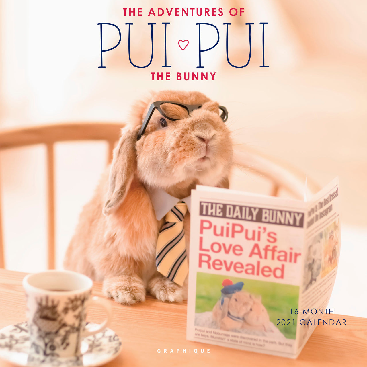 The Adventures of Pui Pui the Bunny Wall Calendar