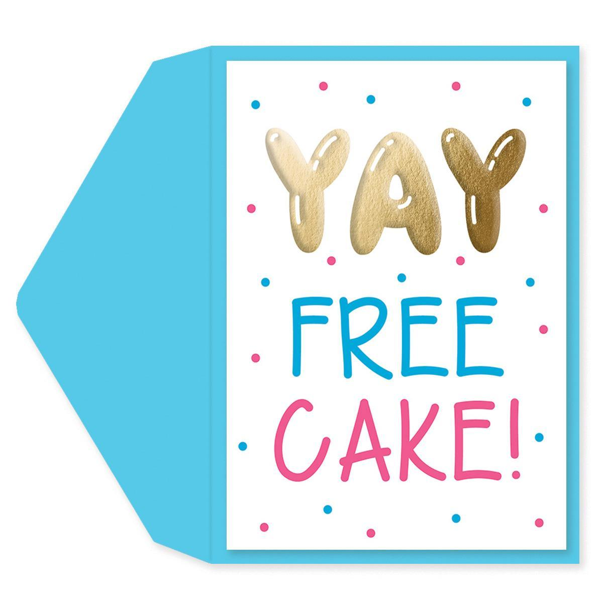 Free Cake Birthday Card