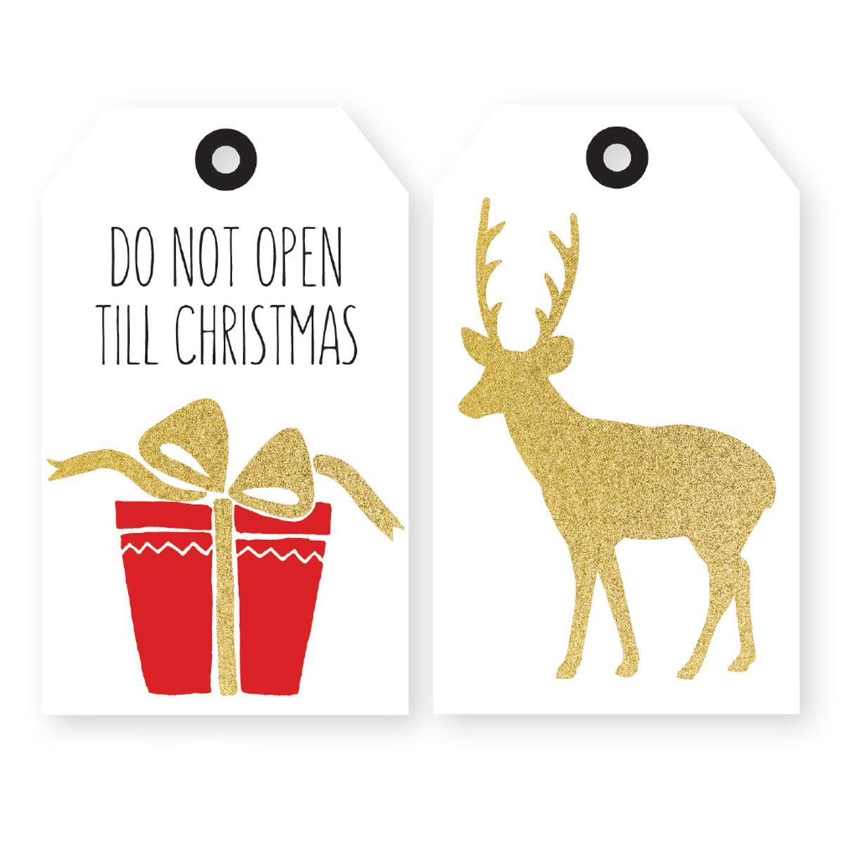 Do Not Open Until Christmas Holiday Duo Gift Tags