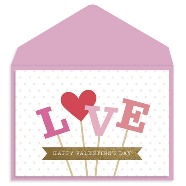 Love on a Stick Valentine's Day Card