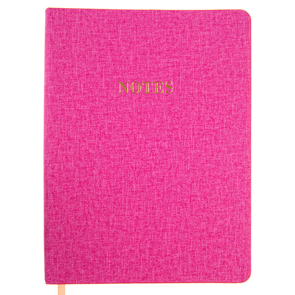 La Petite Presse Collection Textured Pink 6x8 Vegan Leather Journal