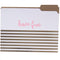 Neon Coral Stripes File Folder Set