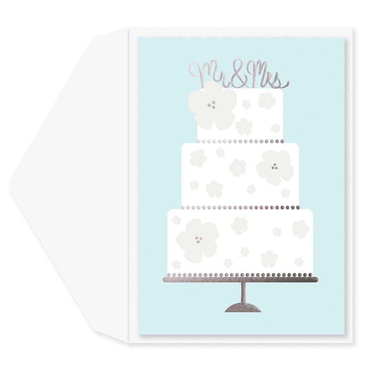 Wedding Cake Wedding Card