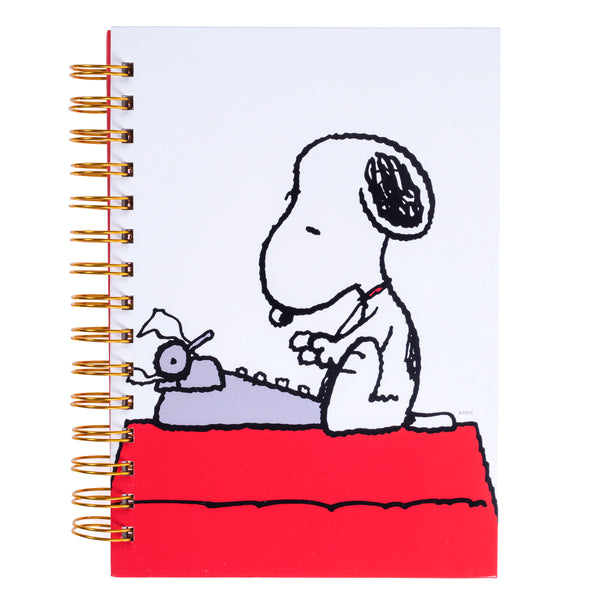 Peanuts™ Typewriter 6x8 Spiral Hard Cover Journal