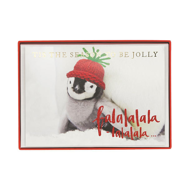 Jolly Penguin Holiday Large Boxed Cards