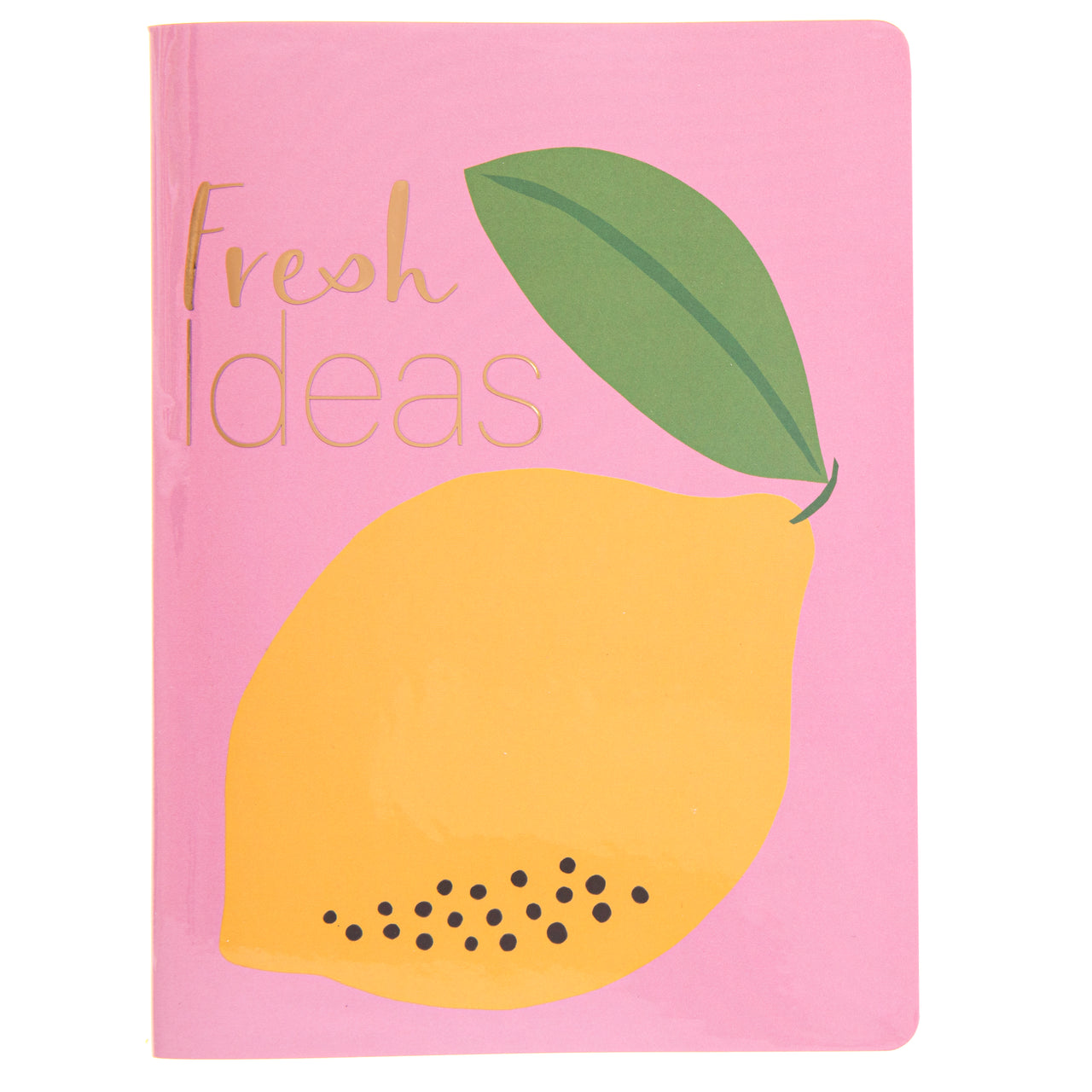 Lemon Yellow 6x8 Vinyl Journal