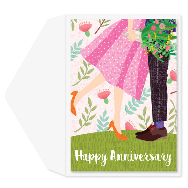 Bouquet Couple Anniversary Card