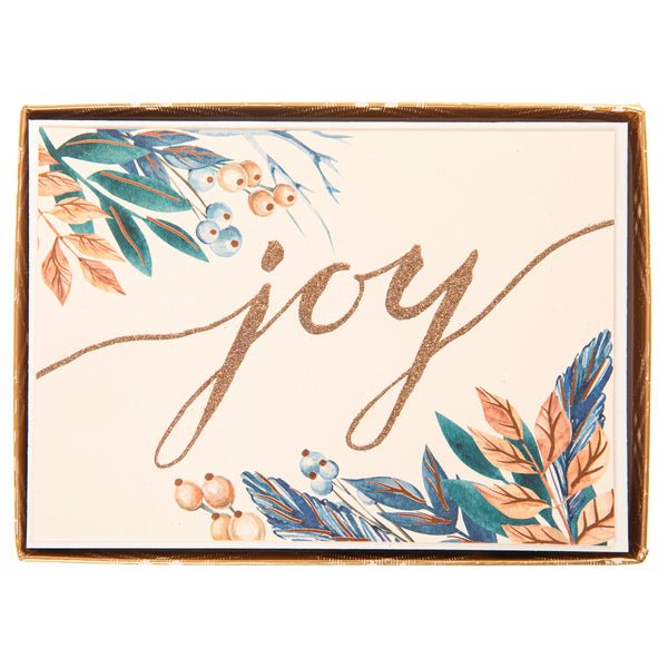 Joy Script Holiday Large Boxed Cards