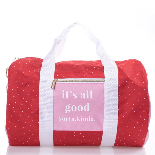 Pink and Red Weekend Bag