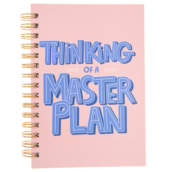Master Plan 6x8 Spiral Hard Cover Journal