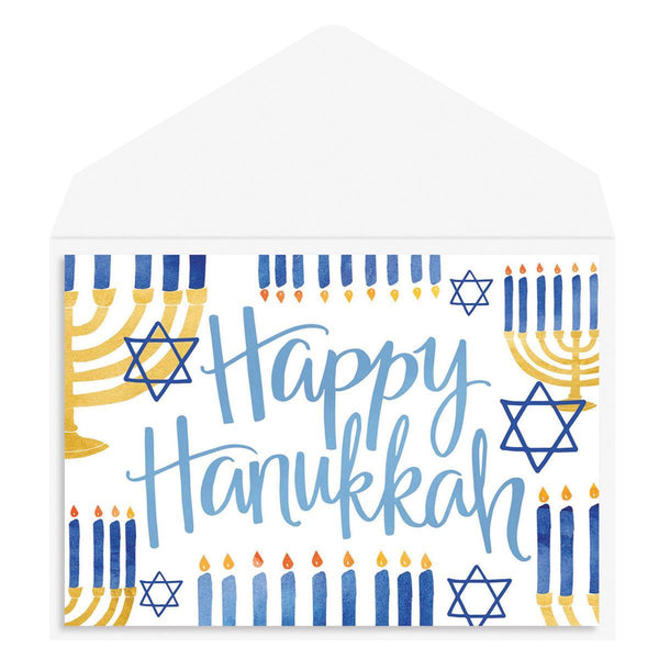 Happy Hanukkah Holiday Greeting Card