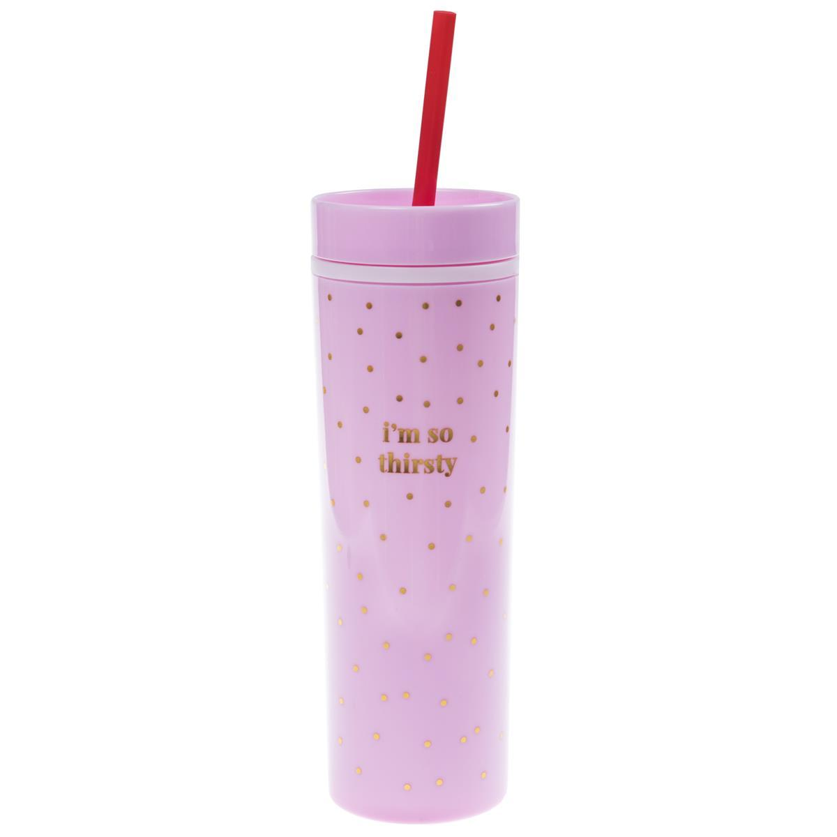 Pink and Gold Skinny Tumbler
