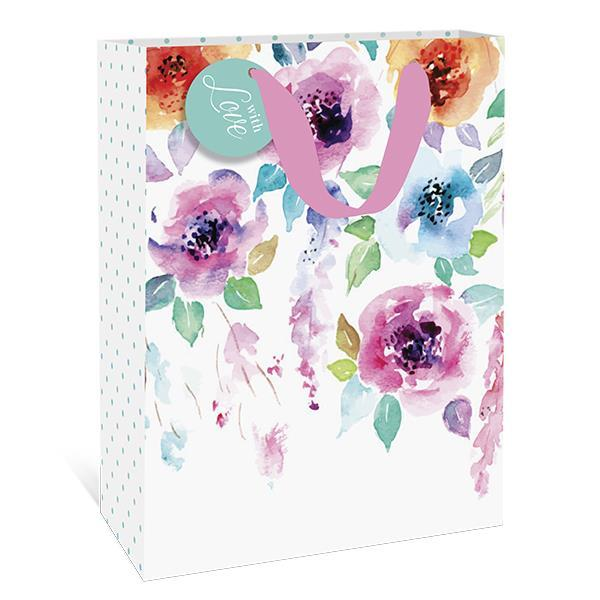Hanging Flowers Large Gift Bag