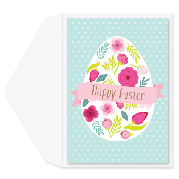 Floral Easter Egg Easter Card
