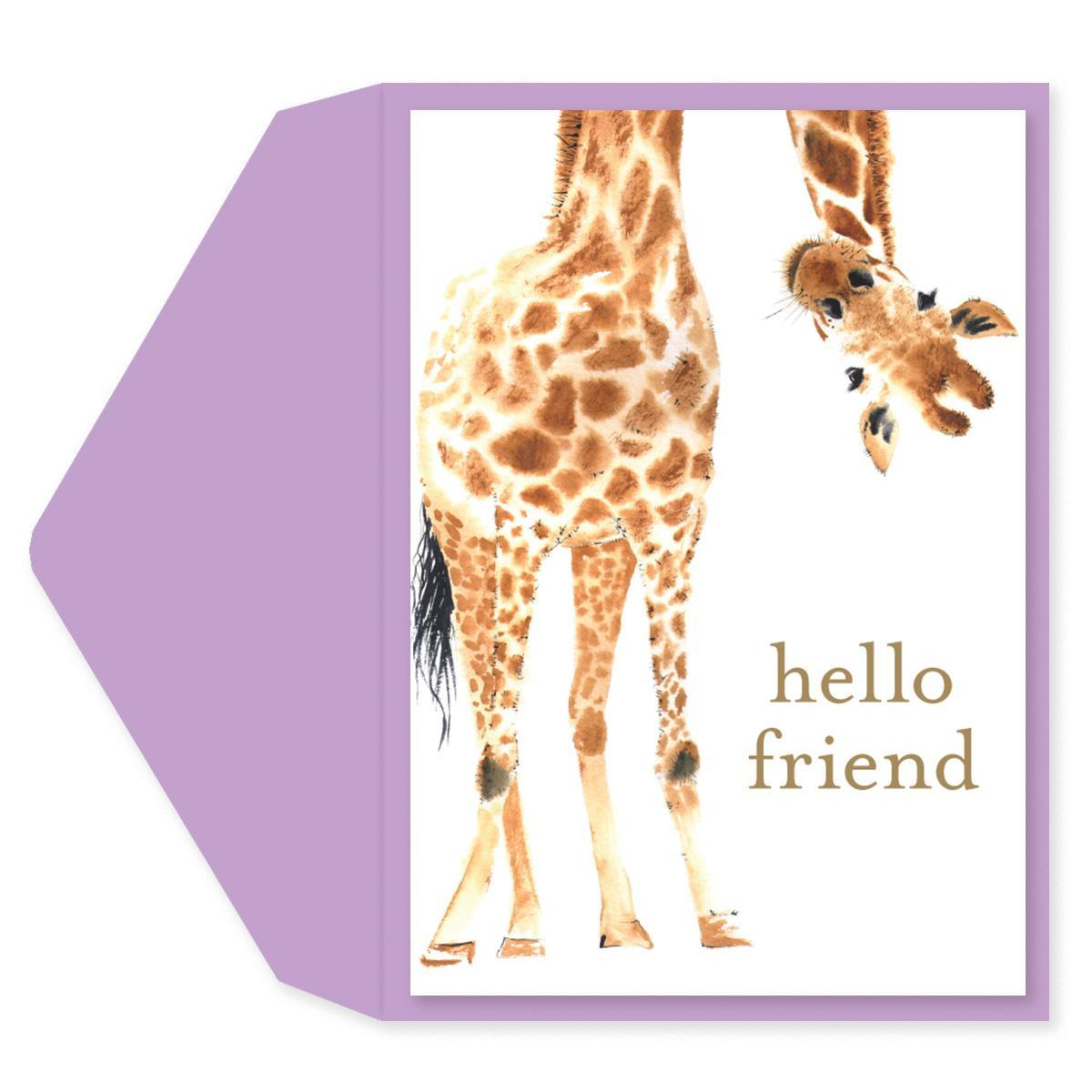 Giraffe Friendship Card