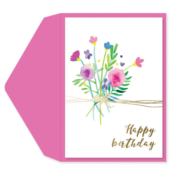 Flower Twine Birthday Card