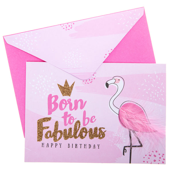Fabulous Flamingo Birthday Handmade Card