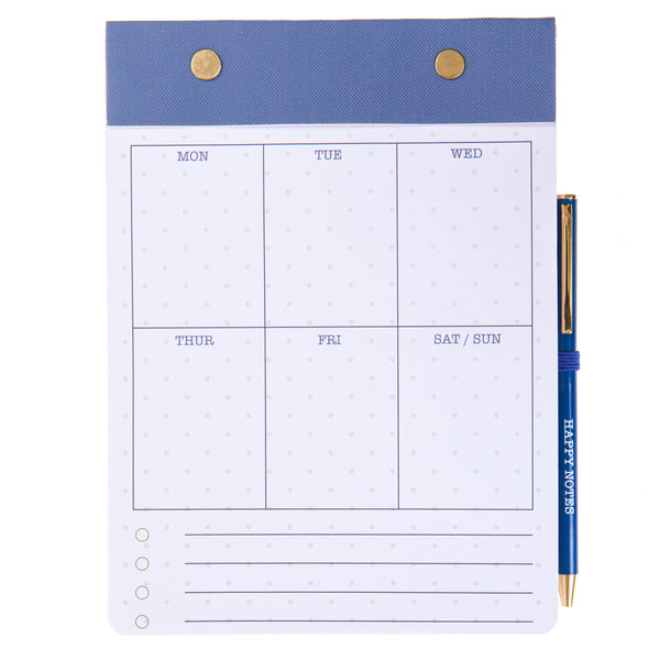 Gold Dots Weekly Notepad & Pen