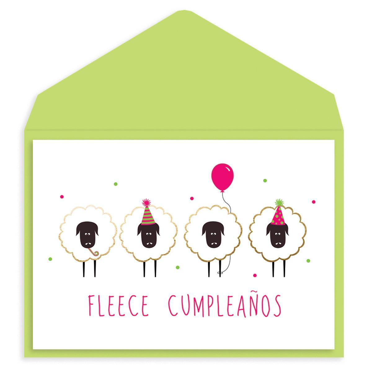 Fleece Cumpleanos Birthday Card