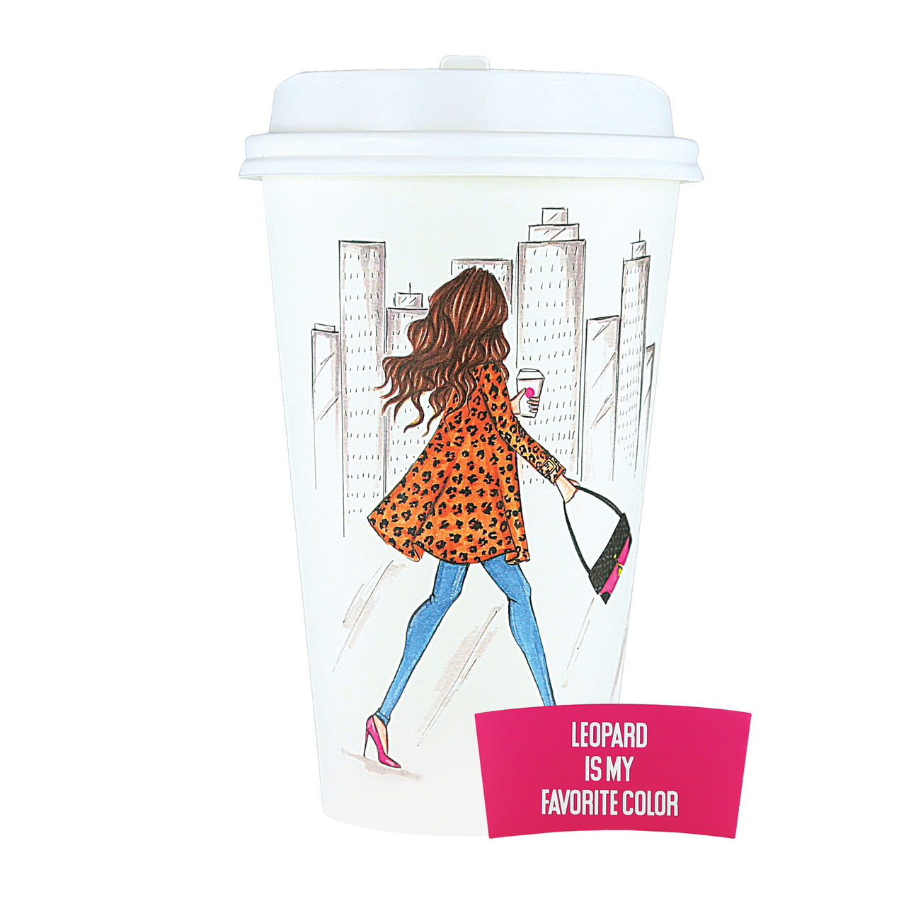 Leopard is my favorite color Disposable Travel Cup