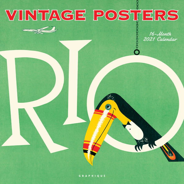 Vintage Posters Wall Calendar