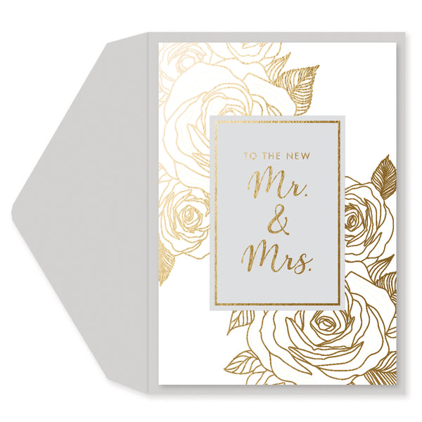 To the New Mr. & Mrs. Anniversary/Wedding Card