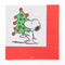 Snoopy carrying tree Holiday Cocktail Napkins
