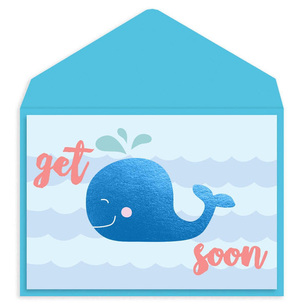 Blue Whale Get Well Card