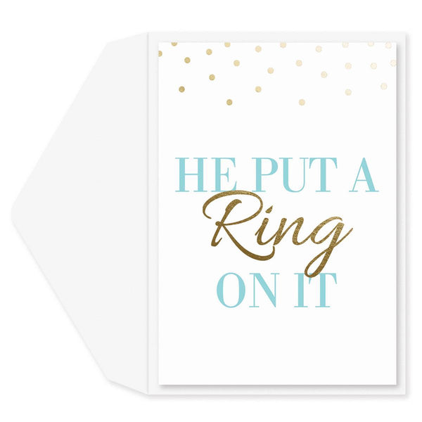 Put A Ring On It Engagement Card