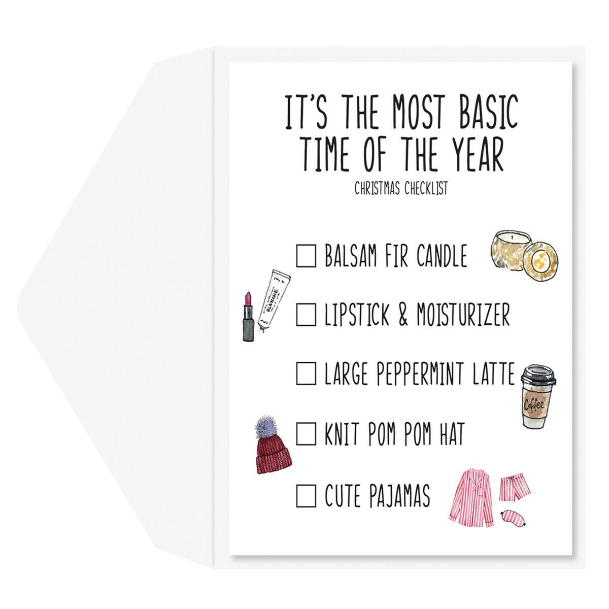 Basic Girl Greeting Card