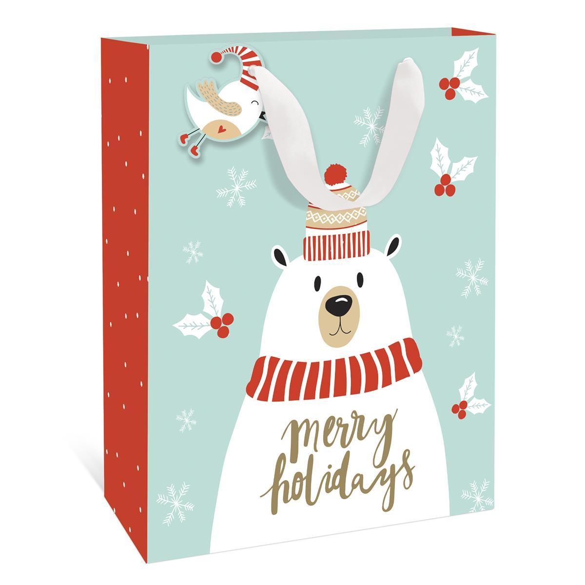 Polar Bear Holiday Large Gift Bag