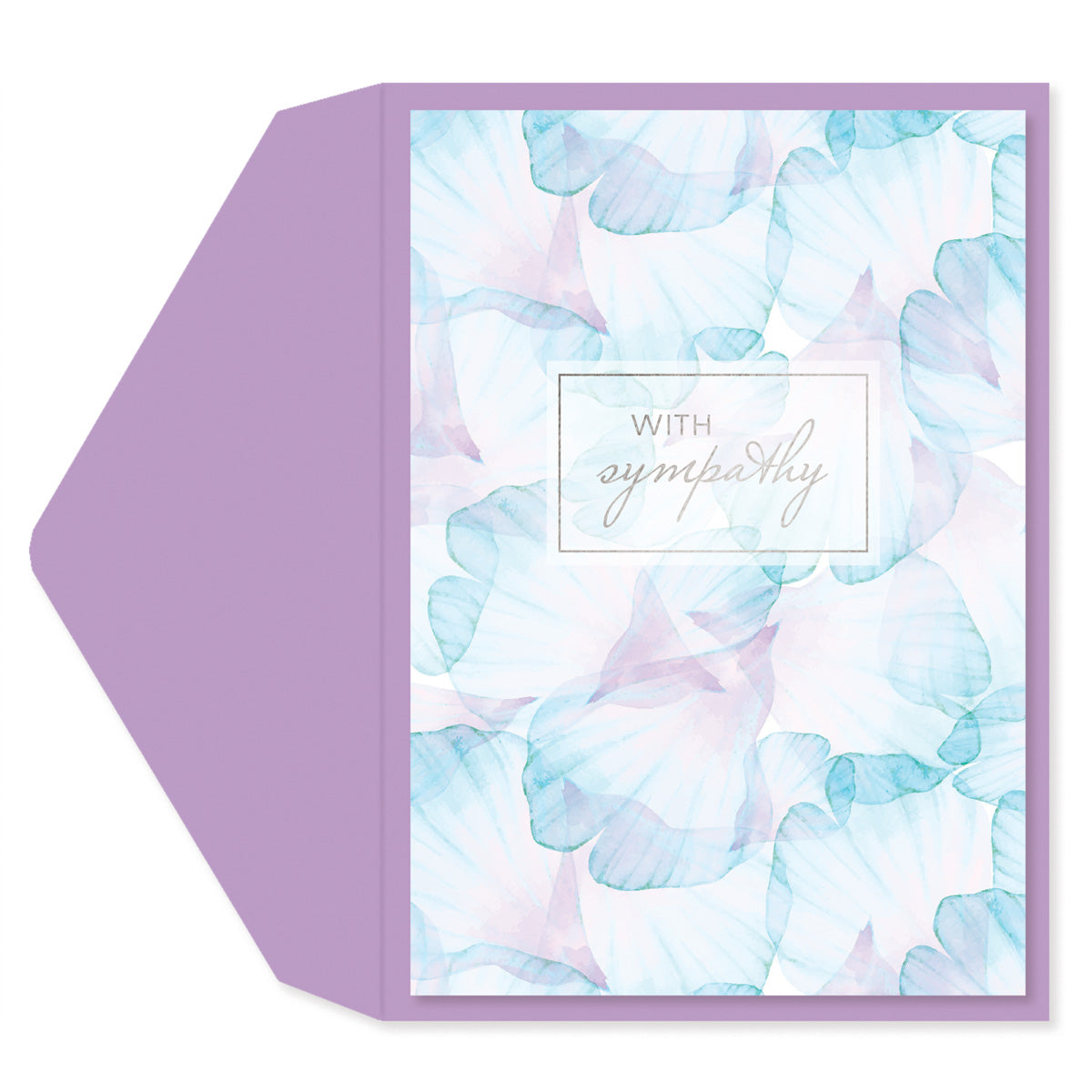 Pastel Leaves Sympathy Card