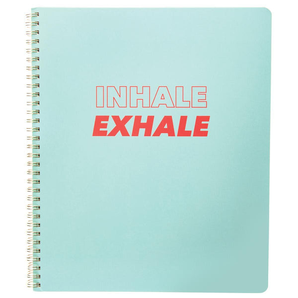 Inhale 9x11 Spiral Notebook