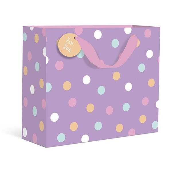 Spring Polkadots Purple Small Gift Bag