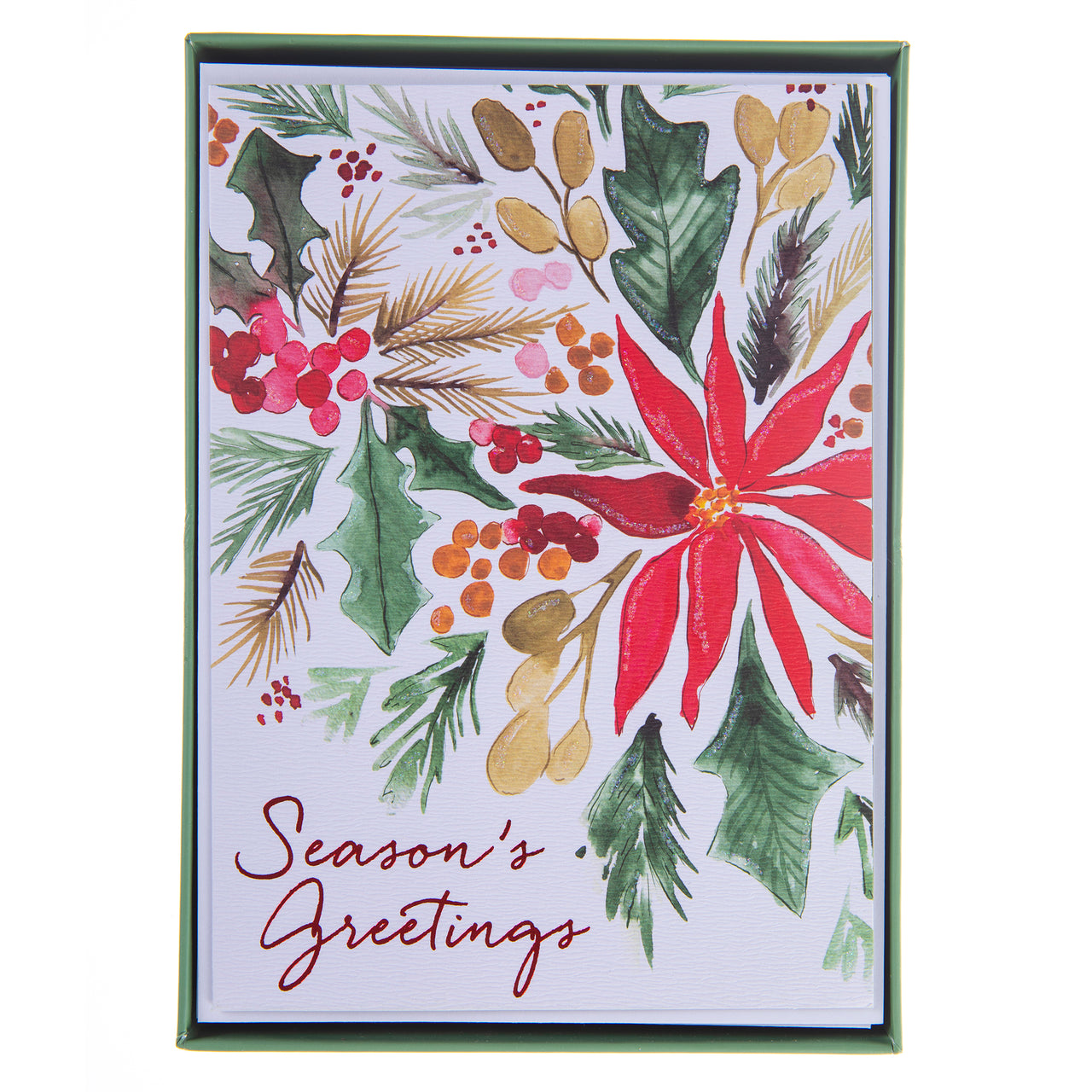 Poinsettia Holiday Large Boxed Cards