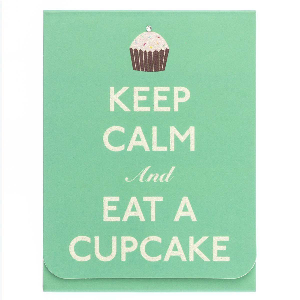 Keep Calm and Eat A Cupcake Pocket Note