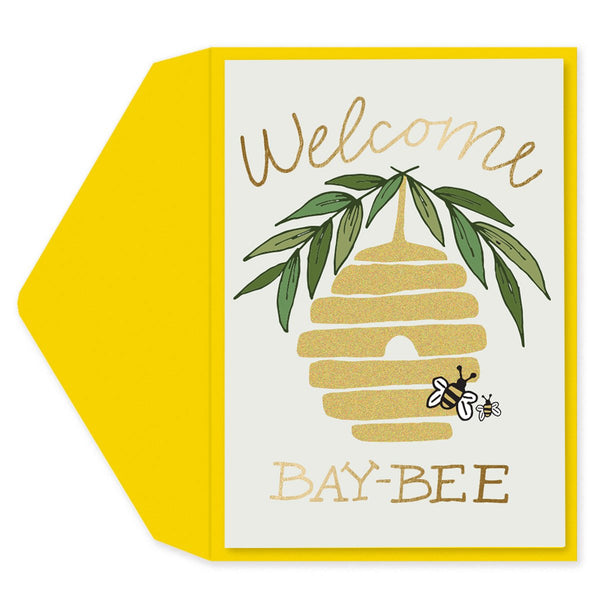 Welcome Bay-Bee Baby Card
