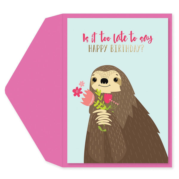 Belated Sloth Birthday Card