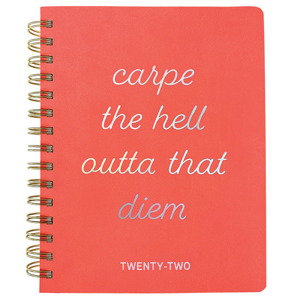Carpe Diem 6 x 8 18-Month Spiral Vegan Leather Planner