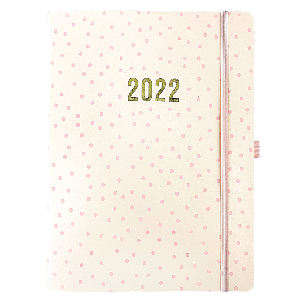 Polka dot 8x10 18-Month Soft Cover Vegan Leather Planner