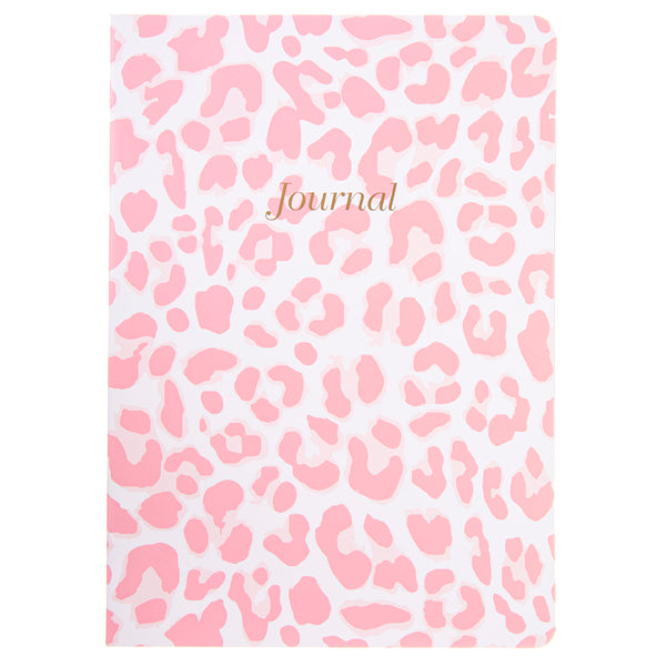Caitlin Wilson Pink Leopard 6x8 Soft Cover Paper Journal