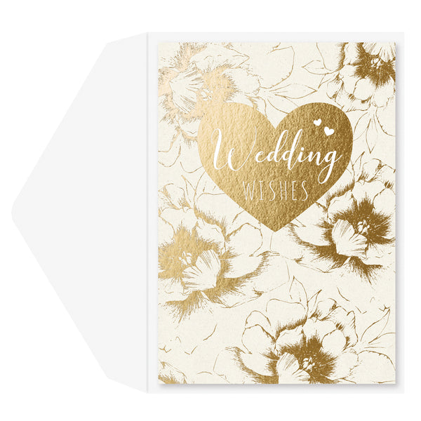Wedding Wishes Floral Anniversary/Wedding Card