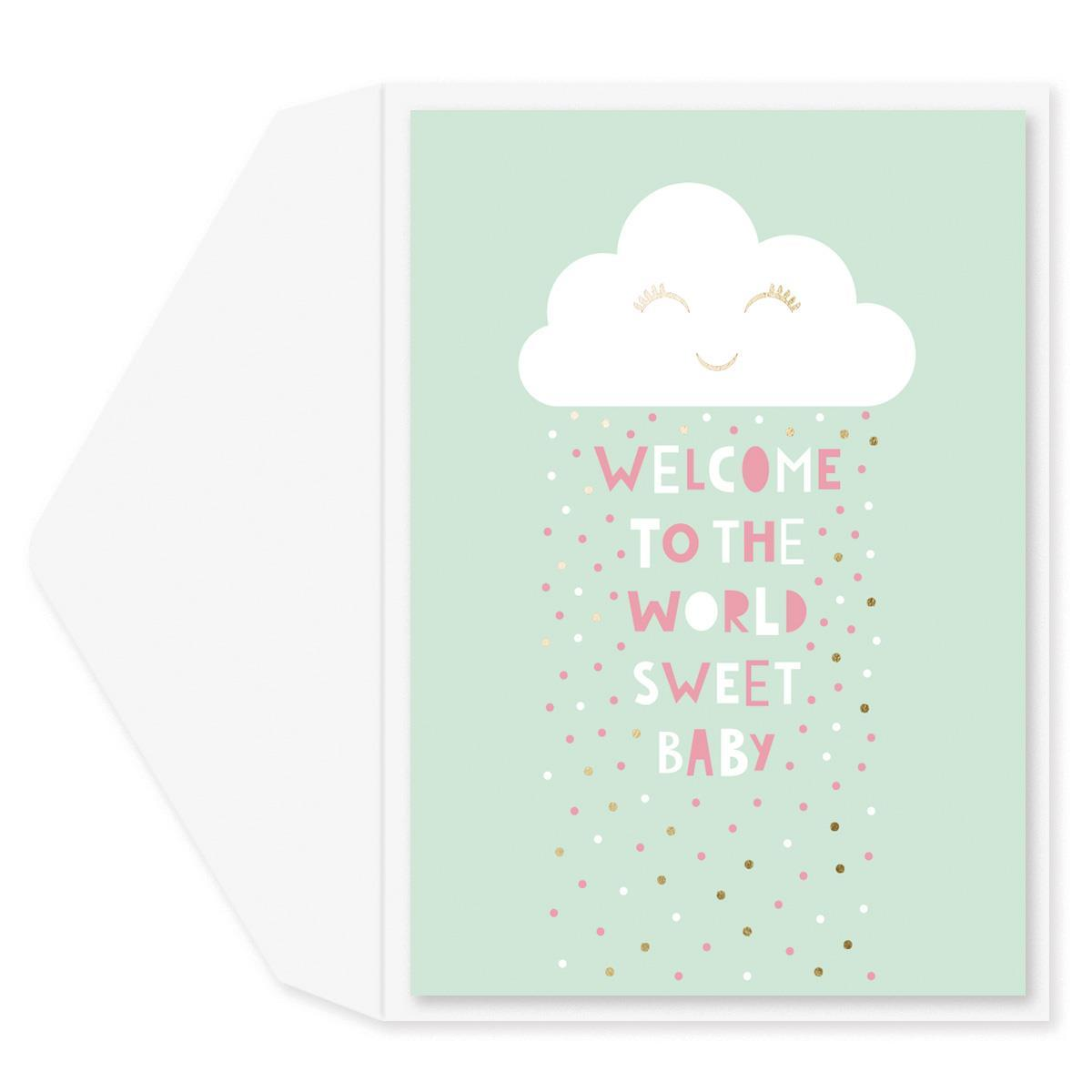 Showered With Joy Baby Shower Card
