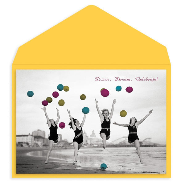Beachy Balloons Birthday Card