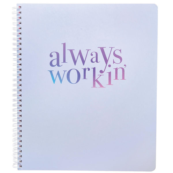 Workin' 9x11 Spiral Notebook