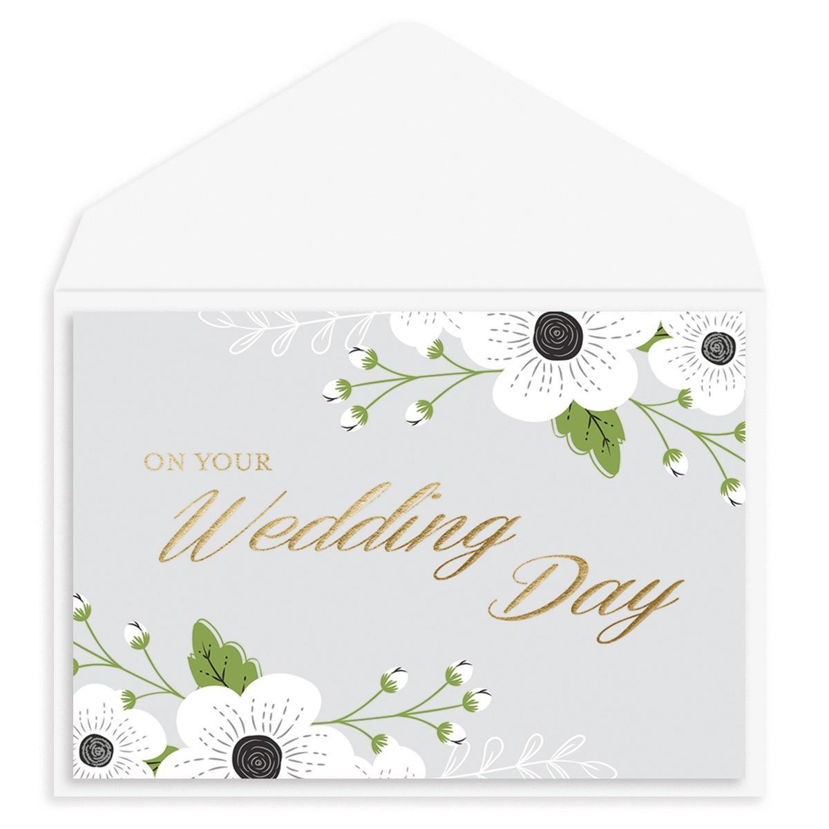Wedding Day Flowers Wedding Card