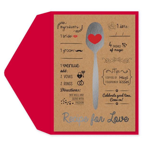 Recipe for Love Engagement Card